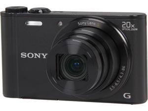 SONY Cyber-shot DSC-WX300/B Black 18.2 MP 20X Optical Zoom Digital Camera HDTV Output