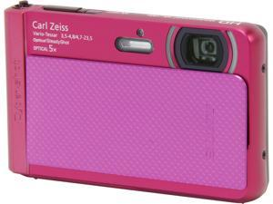 SONY Cyber-shot DSC-TX30/P Pink 18.2MP Waterproof Shockproof 26mm Wide Angle Digital Camera HDTV Output