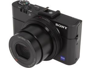 SONY Cyber-shot RX100 II Black 20.2MP 3.6X Optical Zoom 28mm Wide Angle Digital Camera