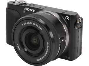 SONY NEX-3N Black Mirrorless Digital Camera with 16-50mm f/3.5-5.6 Lens