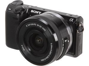 SONY Alpha NEX-5T NEX-5TL/B Black Compact Interchangeable Lens Digital Camera with 16-50mm lens