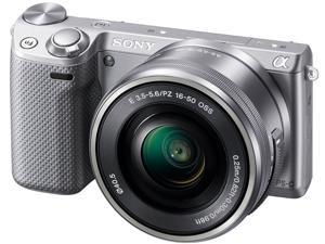 SONY Alpha NEX-5T NEX-5TL/S Silver Compact Interchangeable Lens Digital Camera with 16-50mm lens