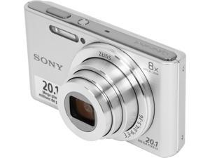 SONY Cyber-shot W830 Silver 20.1MP 8X Optical Zoom 25mm Wide Angle Digital Camera