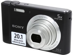 SONY Cyber-shot W800 Black 20.1 MP 5X Optical Zoom Digital Camera