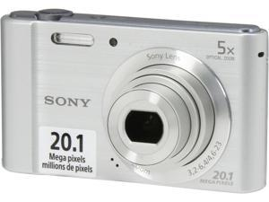 SONY Cyber-shot W800 Silver 20.1 MP 5X Optical Zoom Digital Camera