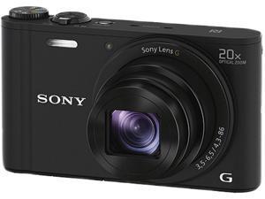 SONY Cyber-shot WX350 DSC-WX350/B Black 18.2 MP 20X Optical Zoom Digital Camera HDTV Output