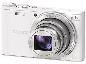 SONY Cyber-shot WX350 DSC-WX350/W White 18.2 MP 20X Optical Zoom Digital Camera HDTV Output