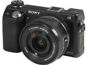 SONY Alpha NEX-6L/B Black Compact Interchangeable Lens Digital Camera with 16-50mm Lens