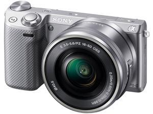 SONY NEX-5T NEX-5TL/S Silver Interchangeable Lens Digital camera w/ 16-50mm lens
