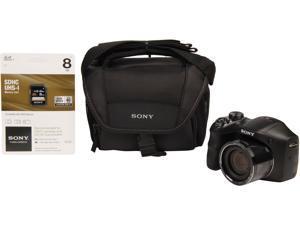 SONY Cyber-shot H200 DSC-H200/BDL Black 20.1 MP Digital Camera