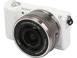 "SONY Alpha a5100 ILCE-5100L/W White 24.3 MP 3.0"" 921.6K Touch LCD Mirrorless Camera w/ 16-50mm lens"