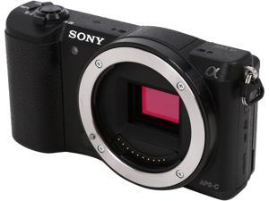 "SONY Alpha a5100 ILCE-5100/B Black 24.3 MP 3.0"" 921.6K Touch LCD Mirrorless Camera - Body"