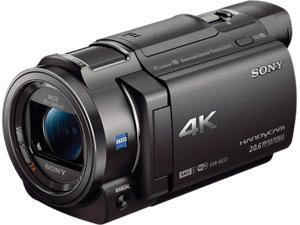 """SONY FDR-AX33/B Black 1/2.3 type (7.76 mm) back-illuminated """"Exmor R"""" CMOS Sensor 2.95"""" (3.0 type) Xtra Fine LCD display (921 600 dots) Wide (16:9) LCD 10X Optical Zoom Full HD Camcorder"""