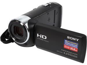"SONY Handycam CX405 HDR-CX405/B Black 1/5.8'' back-illuminated Exmor R CMOS 2.7"" 230.4K LCD 30X Optical Zoom Full HD HDD/Flash Memory Camcorder"