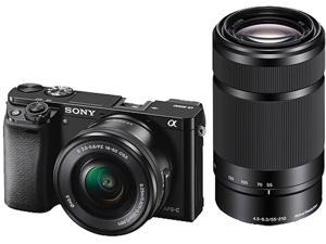 Sony Alpha ILCE6000Y/B a6000 Mirrorless Digital Camera with 16 - 50 mm and 55 - 210 mm Lenses (Black)