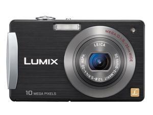 Panasonic Lumix DMC-FX500 Black 10.1 MP 25mm Wide Angle Digital Camera