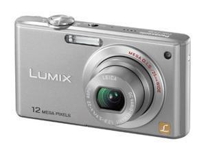 Panasonic Lumix DMC-FX48S Silver 12.1 MP 25mm Wide Angle Digital Camera