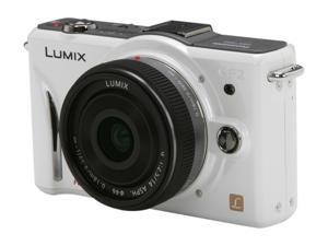 Panasonic LUMIX DMC-GF2CW White 12.10 MP Digital Interchangeable Lens System Camera w/ 14mm Lens