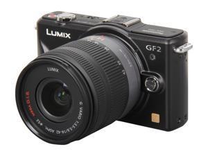Panasonic LUMIX DMC-GF2KK Black 12.10 MP Micro Four-Thirds Interchangeable Lens Digital Camera w/ 14-42 lens