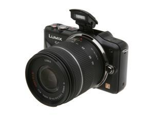 "Panasonic LUMIX DMC-GF3KK Black 12.1 MP 3.0"" 460K Touch LCD Digital Interchangeable Lens System Camera w/ 14-42mm Lens"