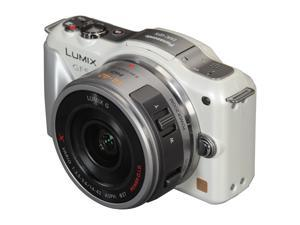 Panasonic LUMIX GF5X White Digital Interchangeable Lens System Camera w/ 14-42mm Lens