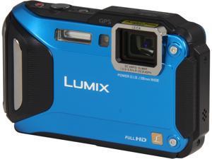 "Panasonic LUMIX DMC-TS5A Blue 16.1 MP 3.0"" 460K WiFi Enabled Lifestyle Tough Camera"