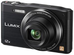Panasonic Lumix SZ8 Black 16 MP 12X Optical Zoom Digital Camera