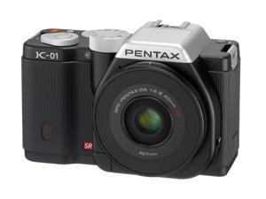 PENTAX K-01 (15242) Black Digital SLR Camera with DA 40mm XS
