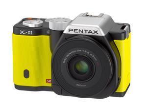 PENTAX K-01 (15372) Yellow Digital SLR Camera with DA L 18-55 & 50-200 Dual Lenses