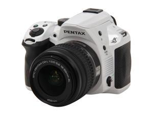Pentax K-30 White 16MP CMOS Digital SLR with 18-55mm Lens