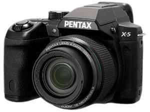 PENTAX X-5 12761 Black 16 MP 26X Optical Zoom Digital Camera HDTV Output