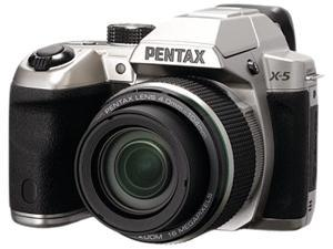 PENTAX X-5 12772 Silver 16 MP Digital Camera HDTV Output