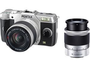 "PENTAX Q7 (11531) Silver 12.4MP 3.0"" 460K LCD Lens-interchangeable SL Digital-still Camera with 5-15mm and 15-45mm Lenses"