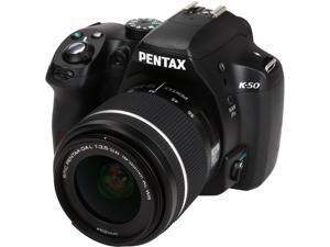 PENTAX K-50 (10894) Black 16.3 MP Digital SLR Camera with 18-55mm Lens