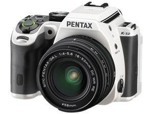 PENTAX K-S2 13964 White - Racing Stripe 20.12 MP Digital SLR Camera With 18-50mm Lens