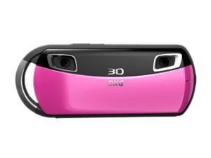 DXG DXG-018V Violet 0.3 MP Wide Angle 3D Camera and 3D Viewer Bundle