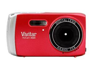 Vivitar ViviCam X020 Red 10.1 MP 3X Optical Zoom Digital Camera