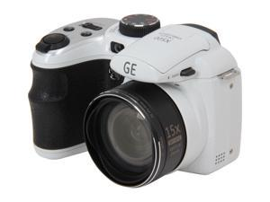 GE X500-WH White 16 MP 27mm Wide Angle Digital Camera