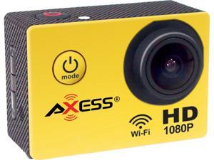 "AXESS CS3602-YL Yellow 1.5"" Full HD 1080P Action Sports Camera"