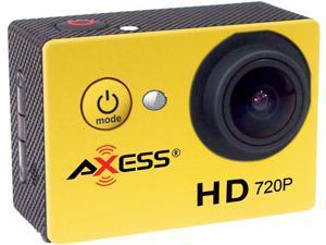 "AXESS CS3601-YL Yellow 1.5"" HD 720P Action Sports Camera"