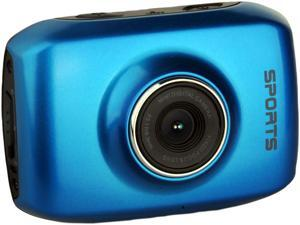 "Computer King Technology DVS1 Blue 1.3 MP 2.0"" LCD 4x Digital HD Action Camera with Touchscreen"