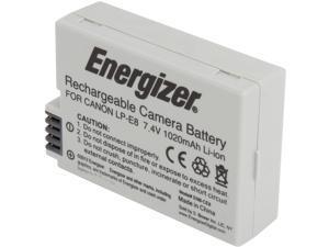 Energizer ENB-CE8 1-Pack 1020mAh Li-Ion Battery for Canon LP-E8