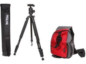 "DOLICA Bundle Includes 65"" Tripod & Professional Sling Bag Red for DSLR and Mirrorless ILC"