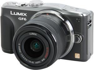Panasonic LUMIX GF6 DMC-GF6KK Black Digital Single Lens Mirrorless camera with 14-42mm F3.5-5.6 II Lens