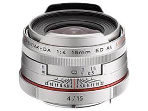PENTAX 21480 DA 15mm F4 ED AL Limited Lens Silver