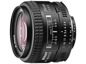 Nikon 1919 AF Nikkor 24mm f/2.8D Lens Black