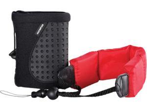 OLYMPUS 202573 Black/ Red Tough Pack Float Strap and Case Kit