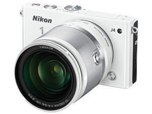 "Nikon 1 J4 27688 White 18.4MP 3.0"" 1037K LCD Camera with 10-100mm lens"