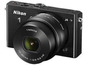 "Nikon 1 J4 27683 Black 18.4MP 3.0"" 1037K LCD Camera with 10-30mm lens"