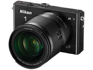 "Nikon 1 J4 27705 Black 18.4MP 3.0"" 1037K LCD Camera with 10-100mm lens"